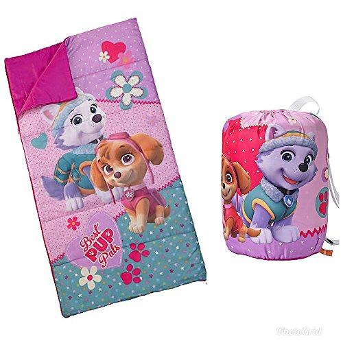 Backpack Nap Sack (Nickelodeon Paw Patrol Girls Sleeping Bag and Carry Sack)