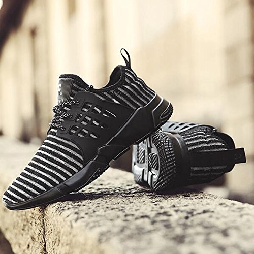 Chaussures YIXINY de Sport Vague coréenne de de Sport Occasionnels des Hommes Running Shoes Nets Shoes Black White Route et Chemin (Couleur : 1, Taille : EU39/UK6.5/CN40) 1