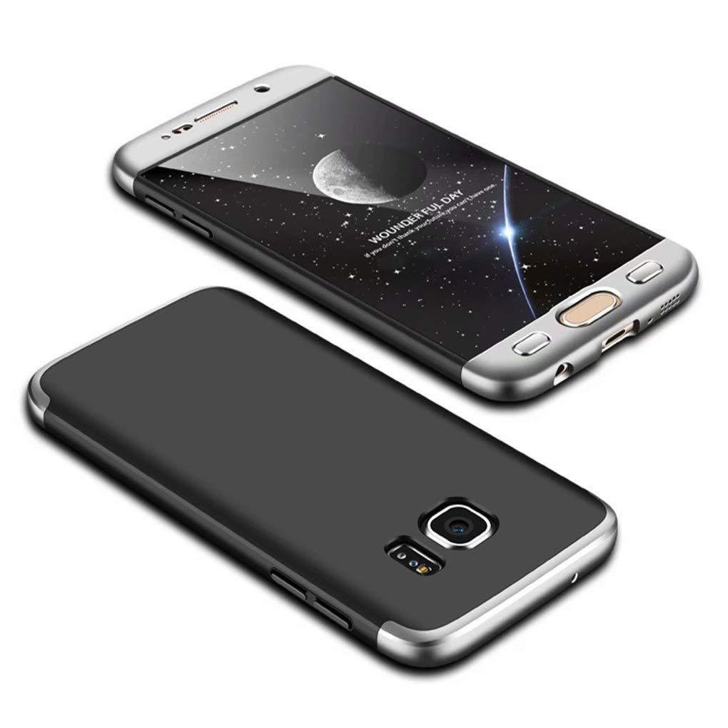 Coque Samsung Galaxy S8 Ttimao PC É tui Rigide [Protecteur D'é cran] Anti Scratch Antichoc Ultra-Mince 360 Degré s Full-Cover Case Triple-en-Un Housse de Protection (Argent Noir)