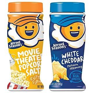 Kernel Season's Popcorn Seasoning Jumbo Movie Theater Butter Variety Pack, Salt & White Cheddar, 8.5 oz, Pack of 2