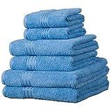 Linens Limited Set de 6 serviettes d'hôtel SUPREME en coton égyptien, 500 g/m², bleu cobalt