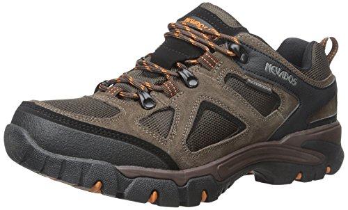 Nevados Men's Spire Low Waterproof Hiking Shoe, Dark Brown/Orange/Black, 12...
