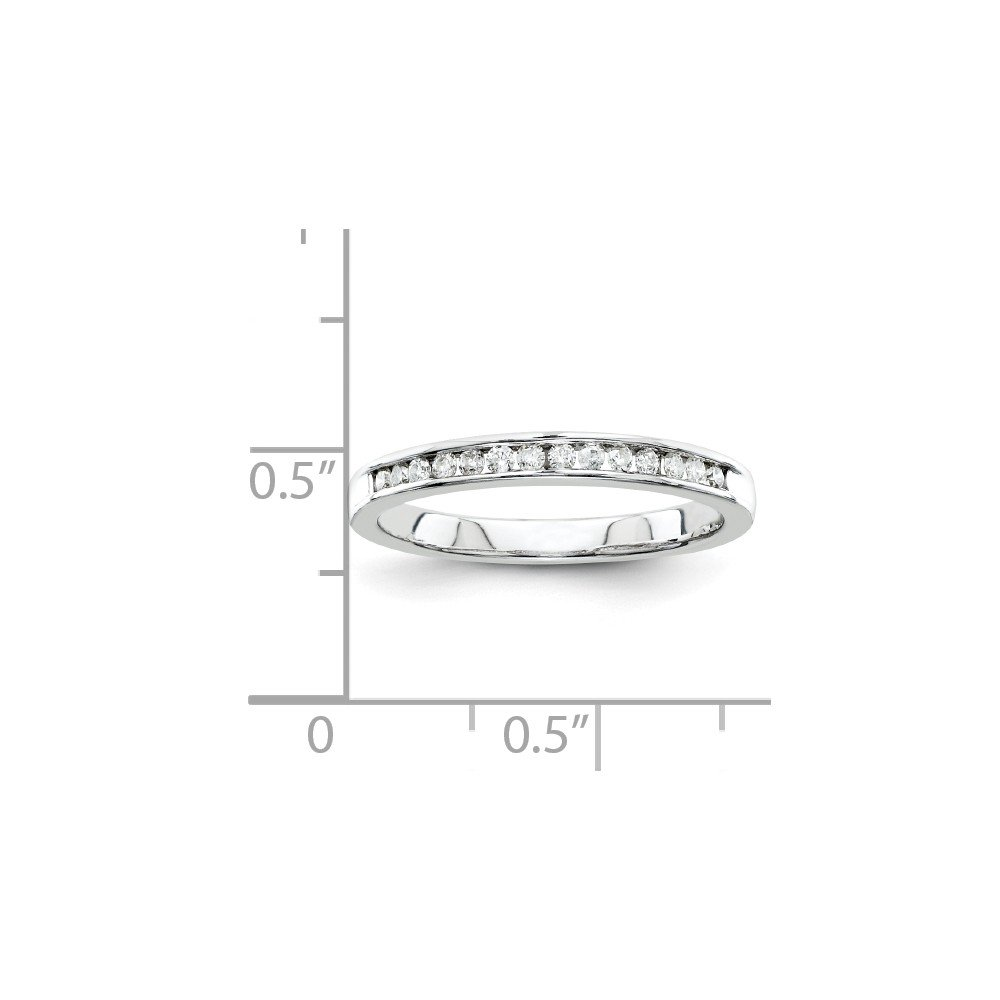 925 Sterling Silver Half Eternity Engagement Wedding Band Ring Size 7 (0.20ct, H-SI2)