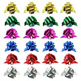 24 Pcs 3.9'' Pull Bows for Gift Wrapping,Christmas/Wedding/Valentine's Day/Present Decoration Pull Bows (A Style)