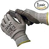 Pakel High Performance En388 CE Level 5 Cut Resistant Knit Wrist Gloves (Size 9 / Large)