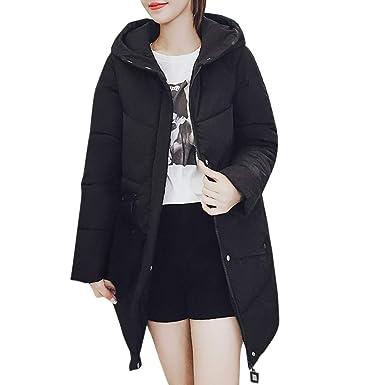 f1f8c7f9eae MODOQO Women s Long Down Coat Hooded for Winter Warm Jacket Outerwear  (Black,3XL)