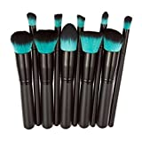 Usstore 10PC Eyeshadow Makeup Brush Beauty Brushes Foundation Tool Make Up For Professional Women Lady (Black)