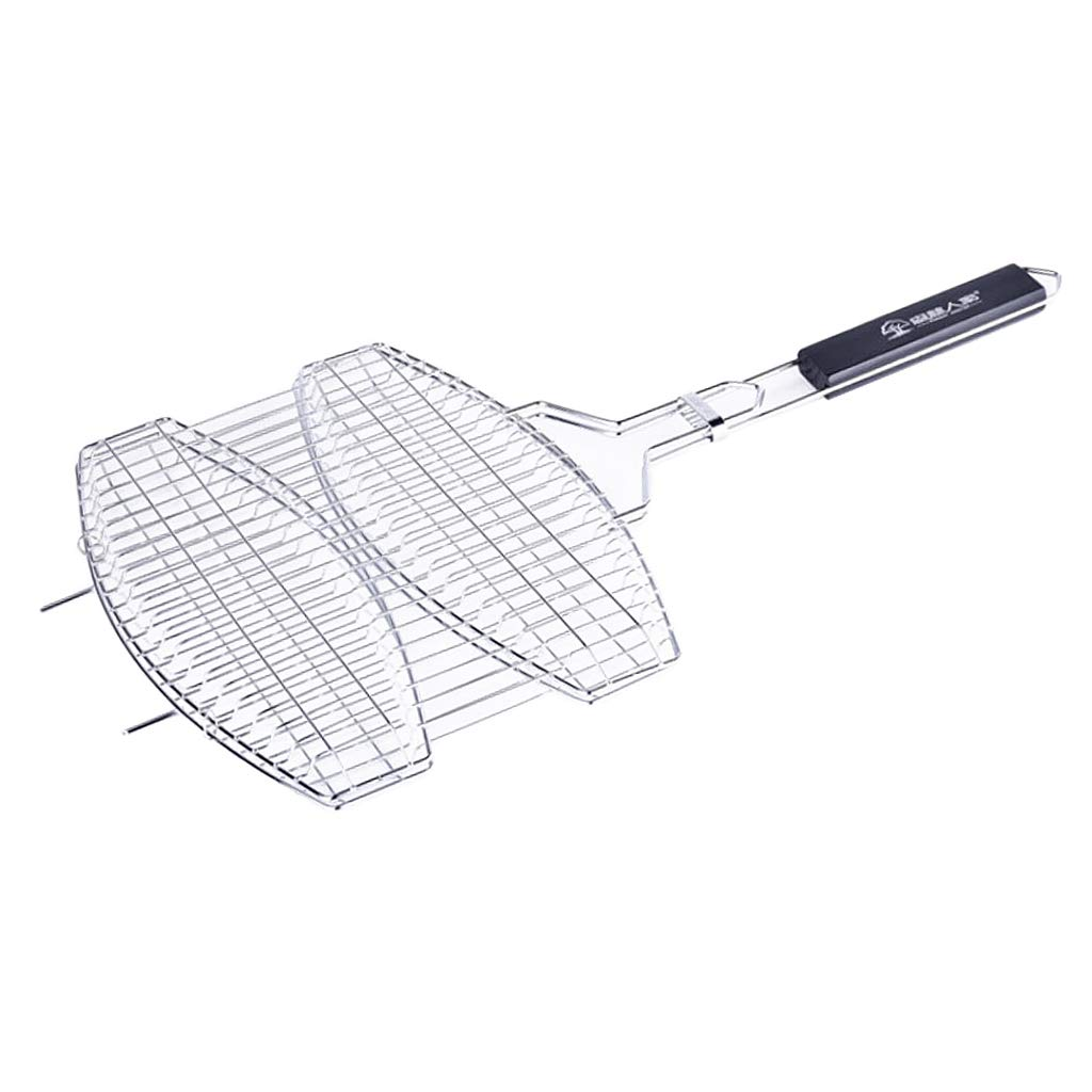 B Blesiya Double Fish-Shape Barbecue Wire Mesh Grilling Basket Net for Grilled Fish,Stainless Steel BBQ Tool Cookout Accessories