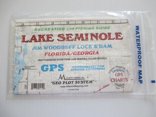 Lake Seminole, Flordia/Georgia Geographic Recrestion and Fishing Guide GPS Coordinates for Underwater Structures Topo Map