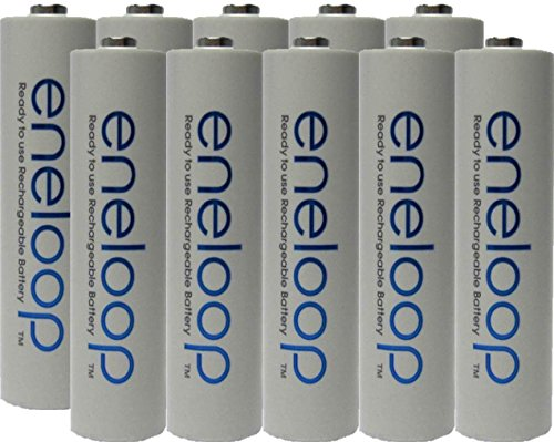 Eneloop AAA 4th generation 800mAh Min. 750mAh NiMH Pre-Charged Rechargeable Battery with Holder Pack of 10