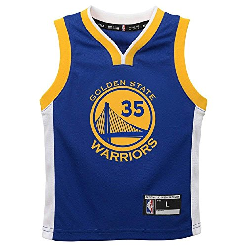 Kevin Durant Golden State Warriors NBA Toddler Blue Road Replica Jersey (Toddler 2T) by Outerstuff