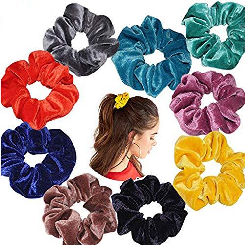 JIUDASG Women Girls Scrunchy Hair Ties Scrunchie Scrunchies Accessories Velvet -