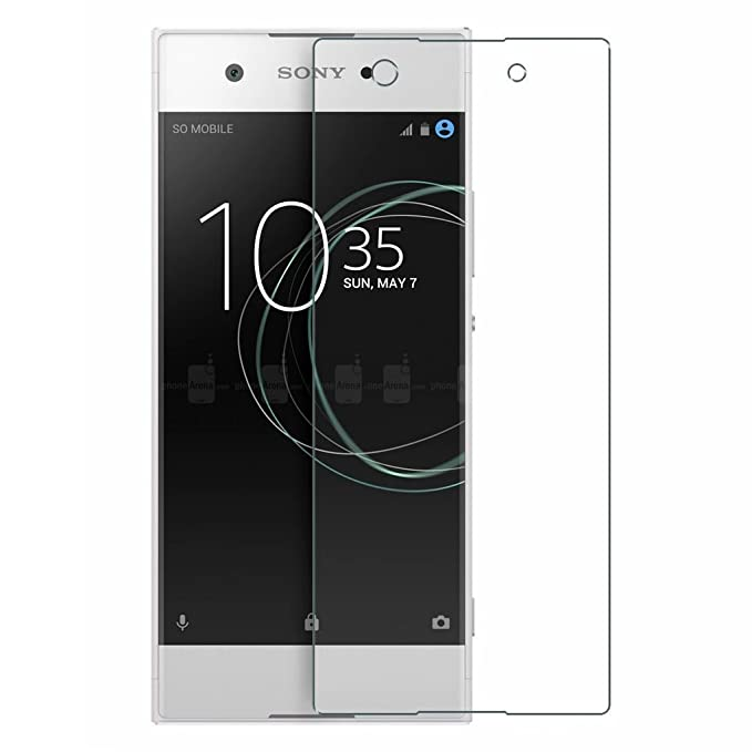 Colorcase Tempered Glass Screenguard for Sony Xperia Xa1    Transparent  Cases   Covers