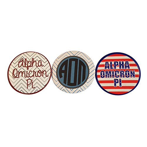 Alpha Omicron Pi Sorority Variety of 2 Inch Round Pinback Buttons aoii (3 Different (Calvin Klein Variety Sets)
