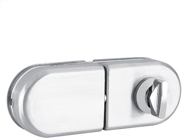 Cerradura de Seguridad Cerradura de Puerta de Cristal Unilateral Abierta Solo del Semicírculo de 10~12mm Cerradura Puerta Cristal el Uso Casero del Cuarto de Baño de La Oficina del Hotel: Amazon.es: Hogar