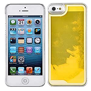 Boomy Transparent Plastic 3d Glitter Quicksand and Star Liquid Case for Apple Iphone 5 5s Case(multi Color Hourglass) (Style9)