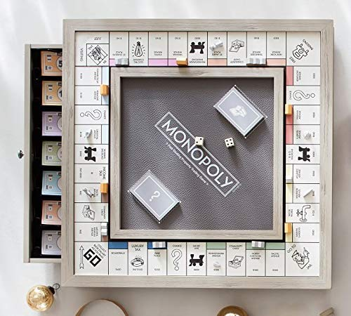 Hasbro Monopoly Luxury Edition White & Gold / Adult Collectable / 2-6 Players