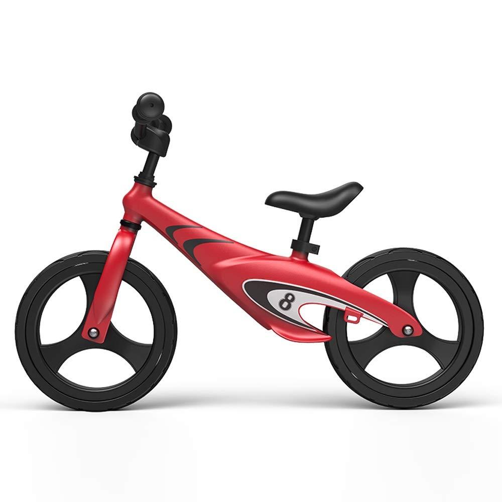 rojo ZXCMNB Equilibrio para niños Bicicleta 16 años de Edad Niño Coche deslizable sin Pedal Bicicleta Entrenamiento para Correr Niño Bicicleta de Deslizamiento Juguete de aleación de magnesio