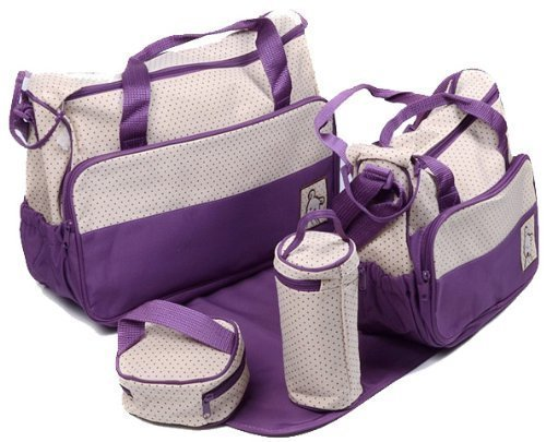 53 opinioni per 5 Piece Baby Changing Bag- Various Colours (Purple) by Baby World