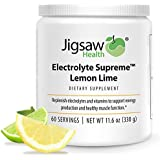 Jigsaw Health - Electrolyte Supreme - Amazing Lemon-Lime Flavor - Broad Spectrum of Electrolytes + trace minerals - 60 Servings per Jar