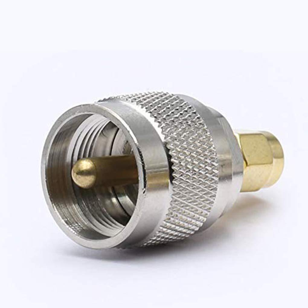 6pcs UHF m/âle /à m/âle SMA Adaptateur M Type coaxial RF Droite Convertisseur en Laiton plaqu/é Or Connecteur lorjoy 1//2//4