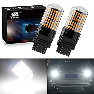 EverBright Extremely Bright 3250Lumen 3157 LED Brake Light Bulbs, Canbus No Hyper Flash for Camper Trailer RV MPV 3156 3056 3057 4157 Brake Led Bulb, 3014 Chipset 144SMD White (Pack of 2): Automotive