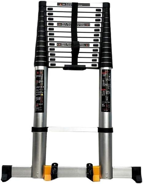 YXIAOL Escalera Telescópica Multiusos con Polea De Barra Estabilizadora Escaleras Telescópicas De Aluminio De Alta Resistencia Escaleras Multifunción,5.4m/17.71ft: Amazon.es: Deportes y aire libre