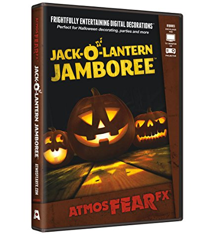 AtmosFX Jack-O'-Lantern Jamboree Digital Decorations DVD for Halloween Holiday Projection -