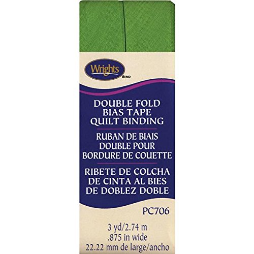 Wrights Double Fold Quilt Binding, 7/8 by 3-Yard, Kiwi 117-706-1136