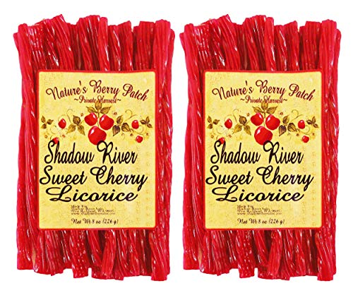 Shadow River Gourmet Sweet Cherry Licorice Candy 8 oz - Pack of 2 (Licorice Gifts Christmas)