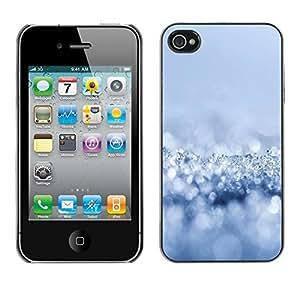 For iPhone 4 / 4S - Fresh Snow /Caja protectora de pl???¡¯????stico duro de la cubierta Dise???¡¯???¡Ào Slim Fit/ - Super Marley Shop -