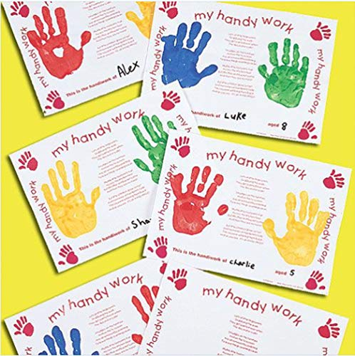 Baker Ross Handprint Card Place Mats PrePrinted with a Poem for Children to Personalise as Gifts Pack of 10