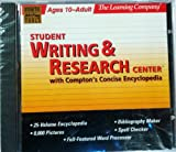 Student Writing & Research Center with Compton's Encyclopedia (Runs on Windows XP) ©1997