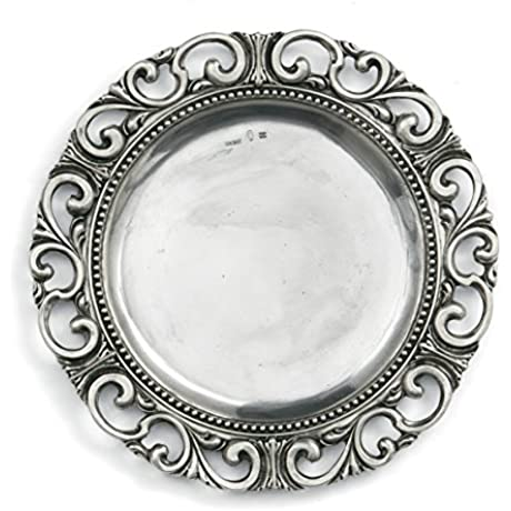 Arte Italica Donatello Charger Plate Pewter