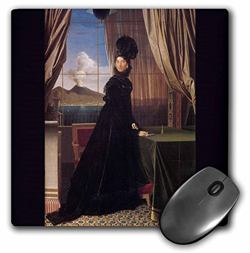 3dRose BLN Paintings of Kings, Queens and Royalty - Queen Caroline Murat, 1814 by Jean Auguste Dominique Ingres - MousePad (mp_169938_1)