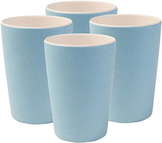 BIOZOYG Vajilla Infantil I 4 Tazas de bambú sin BPA, aptas para ...
