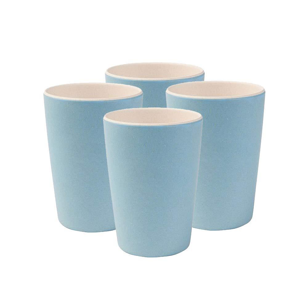4 Tazas de bambú sin BPA