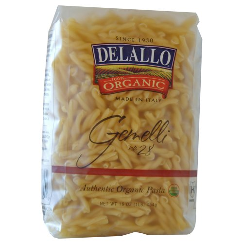 DeLallo Organic Gemelli #28, 16-Ounce Units (Pack of 16) ()