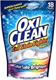 oxy clean detergent pods - OxiClean 2in1 Stain Fighter with Color Safe Brightener Power Paks, 18 Count