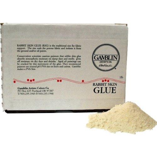 Gamblin Rabbit Skin Glue White 1 lb
