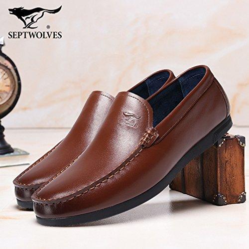 Aemember Scarpe Uomo i fagioli di soia scarpe mettere piede a calci Peddling Lazy ossa Scarpe Casual calzino uomini e ,39, colore marrone chiaro