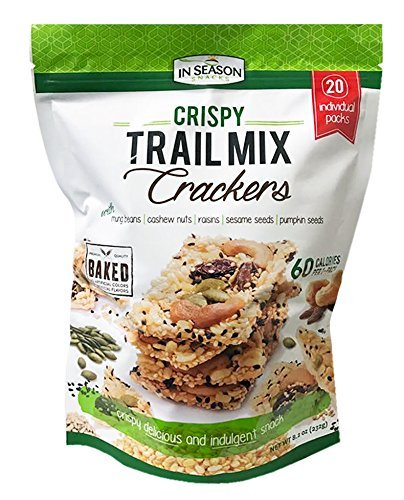 Premium Crispy Trail Mix Crackers 20Packs Pack 8.2oz
