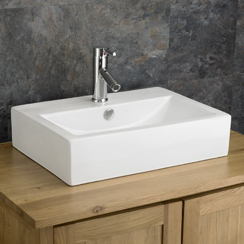Clickbasin Lamezia 54cm By 40.5cm Wall Mounted Rectangular Basin