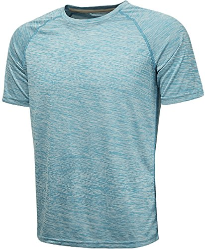 Sky Ringer T-shirt (KomPrexx Mens Sports T-Shirts Short Sleeve Training Tee Shirt Breathable Athletic T-Shirt(SkyBlue,L))