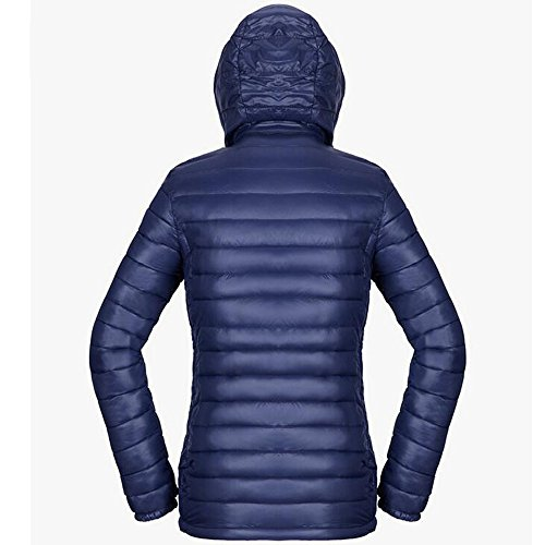 Ultra Blue BOZEVON Puffer Winter Coat Deep Down Jacket Cotton Women's Light r0vqr