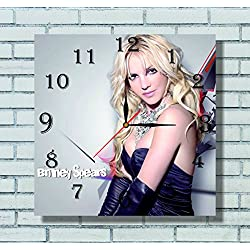 Britney Spears 11.8'' Handmade Wall Clock - Get unique décor for home or office – Best gift ideas for kids, friends, parents and your soul mates