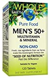 Whole Earth & Sea Mens 50 +l Multivitamin & Mineral Natural Factors 120 Tabs For Sale