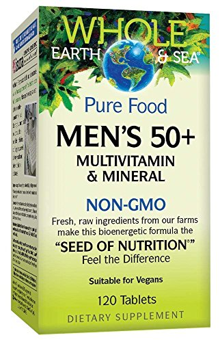 Whole Earth & Sea Mens 50 +l Multivitamin & Mineral Natural Factors 120 Tabs For Sale