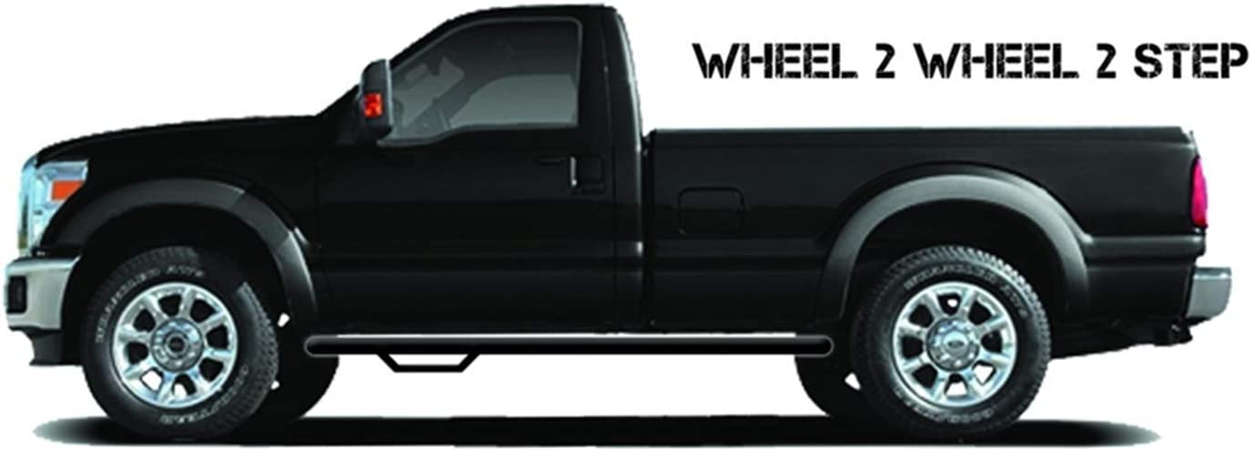 F1577RC-4 | Gloss Black N-FAB Nerf Step Bed Access fits Ford F-150 Regular Cab 6.5 or 8 15-18
