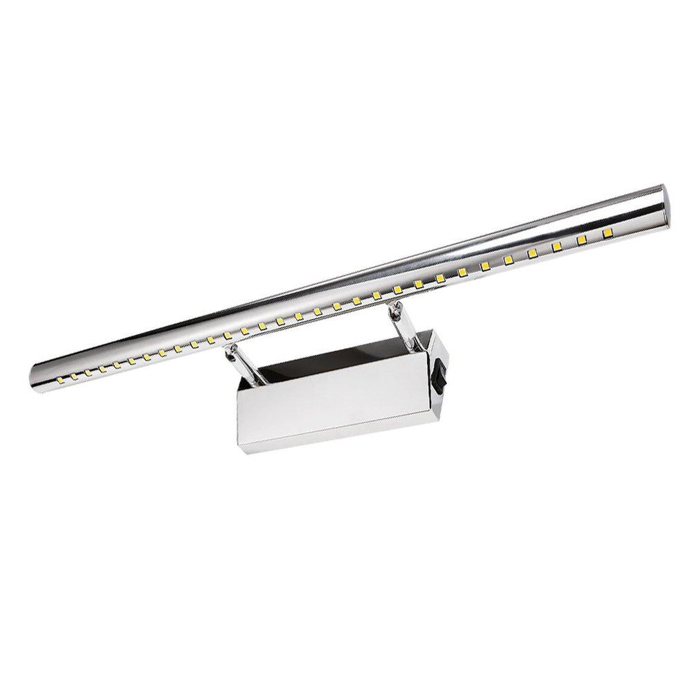 Lumières LED de courtoisie avec commutateur - Pour miroir de salle de bain, salon, chambre à coucher - 7 W - 55cm - Blanc froid, 6000K - Économie d'énergie A + SZFC